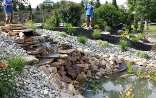 hardscaping pond